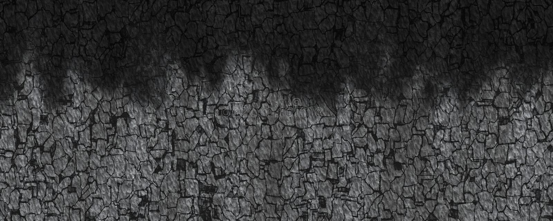 Illustration 3d brannte Holzkohlebeschaffenheit stock abbildung