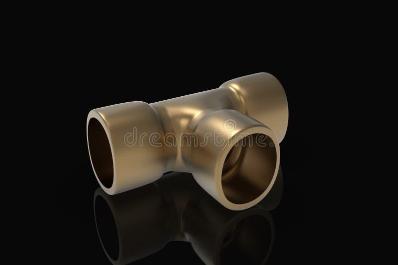 Illustration 3D convenable de cuivre illustration stock