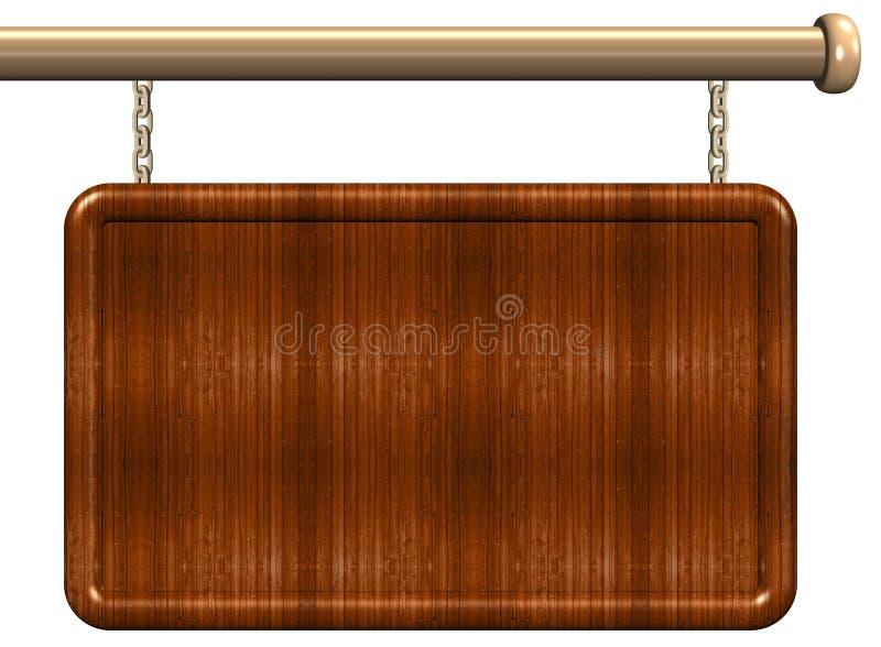 Signe en bois illustration libre de droits