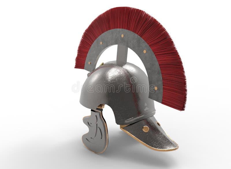 illustration 3d de casque romain antique illustration de vecteur