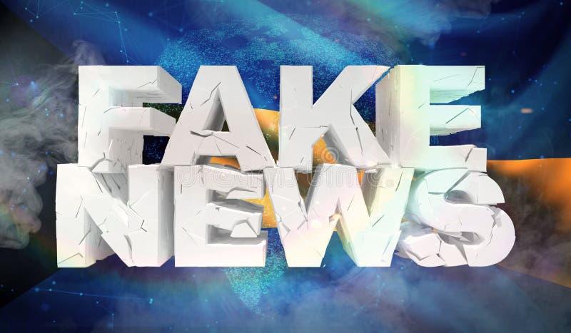 illustration 3D de faux concept de nouvelles avec le drapeau de fond des Bahamas illustration libre de droits