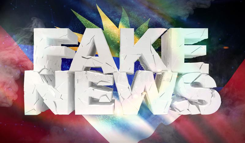 illustration 3D de faux concept de nouvelles avec le drapeau de fond de l'Antigua-et-Barbuda illustration stock