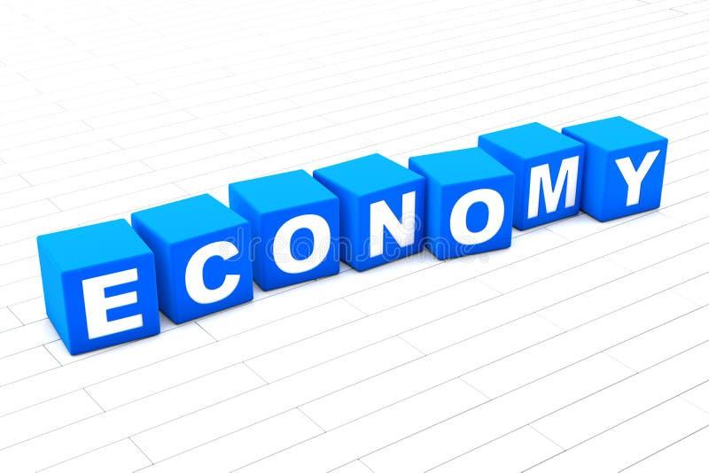 illustration 3D de l'économie de mot illustration stock
