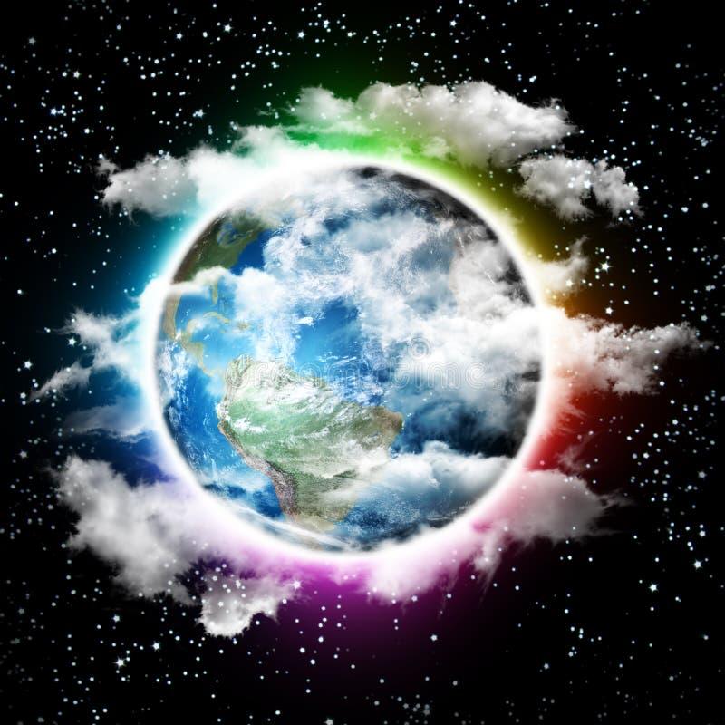 La terre créative de planète du monde illustration libre de droits