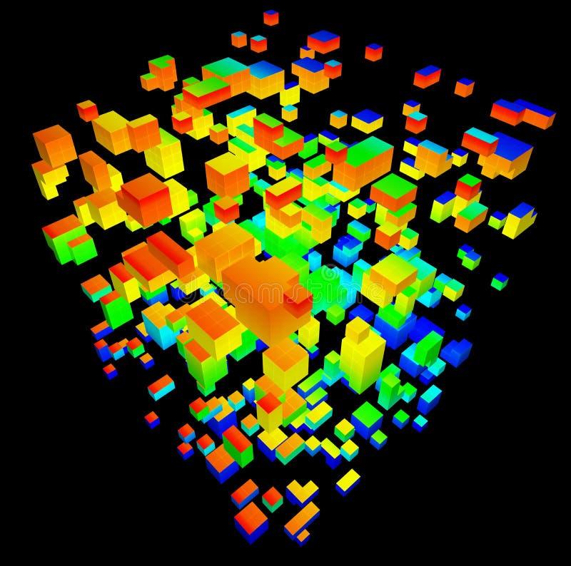 illustration 3D de modèle tridimensionnel illustration de vecteur