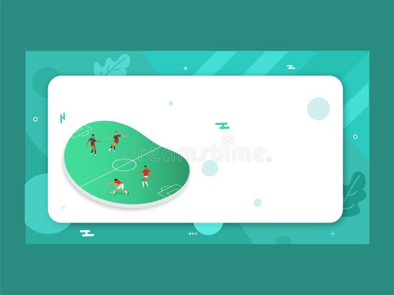 illustration 3D de terrain de jeu du football illustration de vecteur
