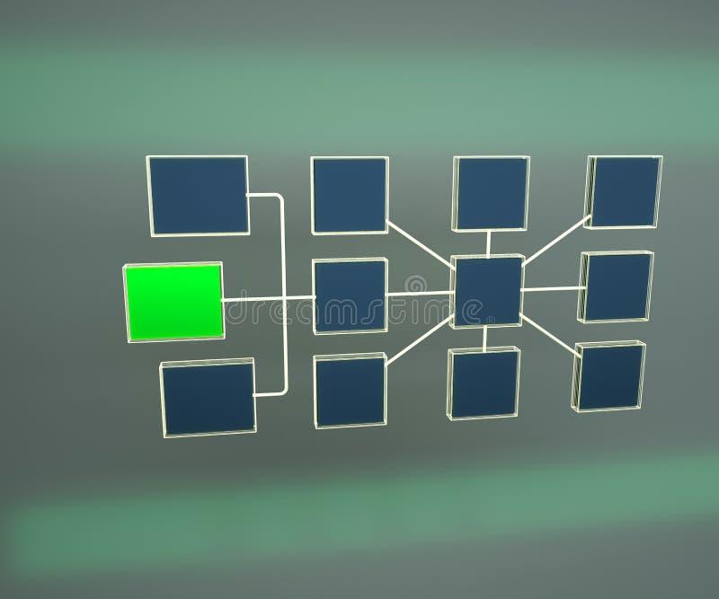 Illustration 3d der Geschäftsnetztopologie Struktur der Netztopologie Network Connections teamwork vektor abbildung