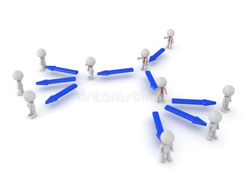 Illustration 3D der Hierarchie in einer Firma vektor abbildung