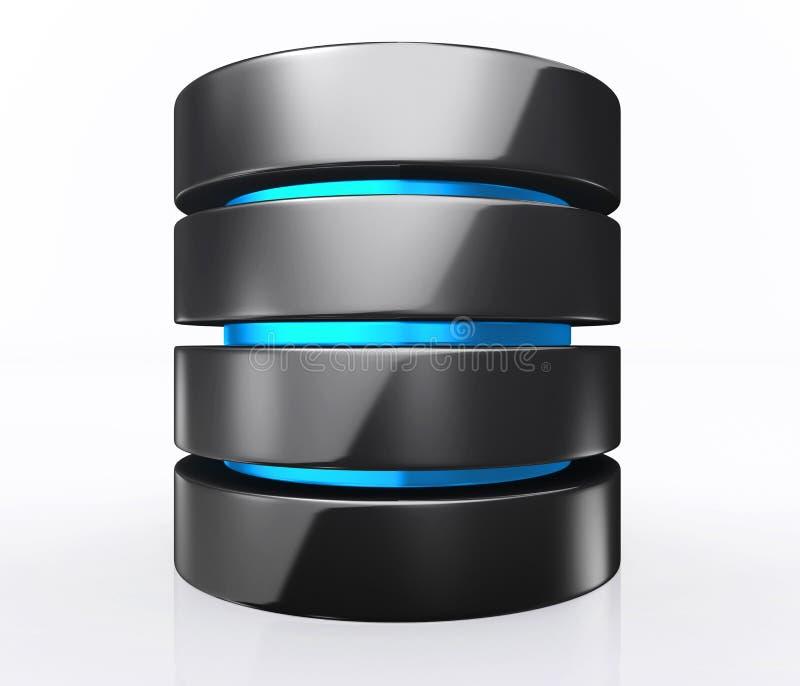 Illustration 3D des Datenbankspeicherkonzeptes, Wolkendatenverarbeitung lizenzfreie abbildung