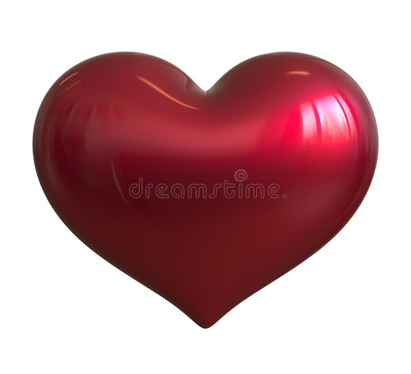 Illustration 3d des klassischen roten freien Raumes des Symbols der Herzform ich liebe dich stock abbildung