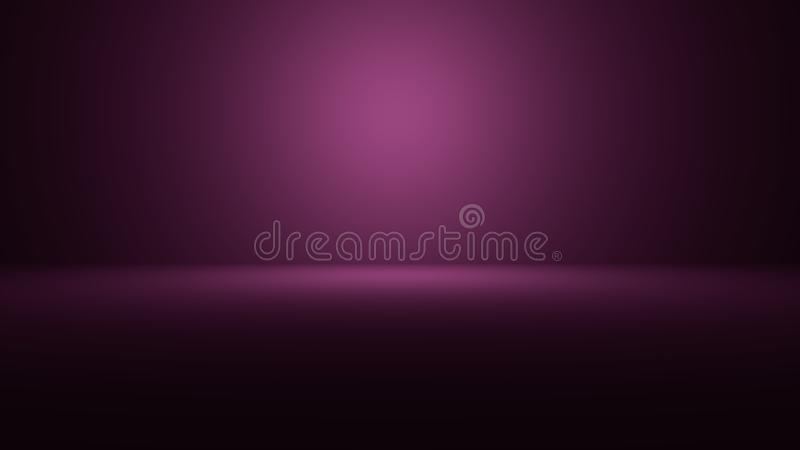 Illustration 3D des leeren Raumes 3D mit Scheinwerfer auf farbigem Steigungshintergrund mit Raum, Ihr Produkt oder Grafik zur Sch vektor abbildung
