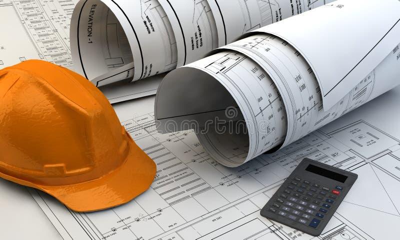 Download Illustration 3d Des Modèles, Du Modèle De Maison Et Du Matériel De Construction Illustration Stock - Illustration du industriel, intérieur: 45370266