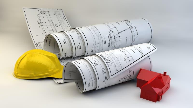 Download Illustration 3d Des Modèles, Du Modèle De Maison Et Du Matériel De Construction Illustration Stock - Illustration du conception, entrepreneur: 45370525