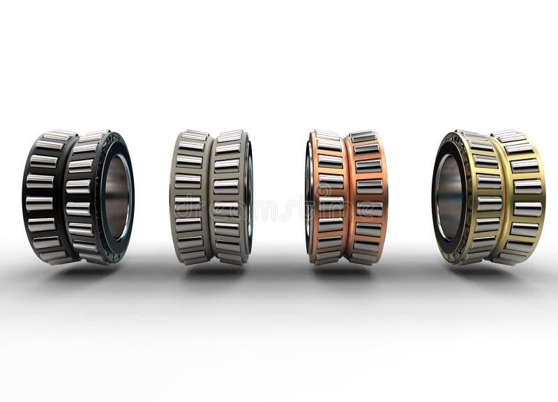 illustration 3D des roulements à rouleaux coniques illustration stock
