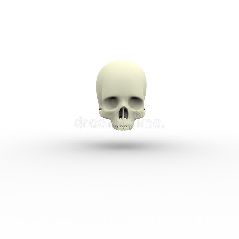 Illustration 3d des skelettartigen Schädels des menschlichen Körpers lizenzfreie abbildung