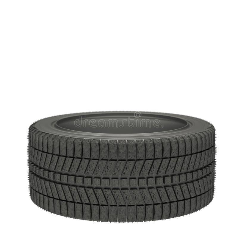 Illustration 3d ein-Winter-Reifen lokalisiert vektor abbildung