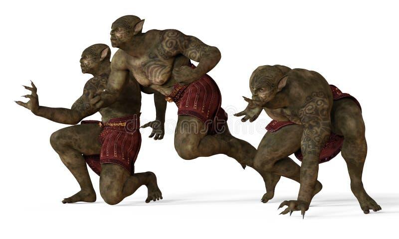 Illustration 3D eines Mutant-Monsters lokalisiert auf Weiß lizenzfreie abbildung