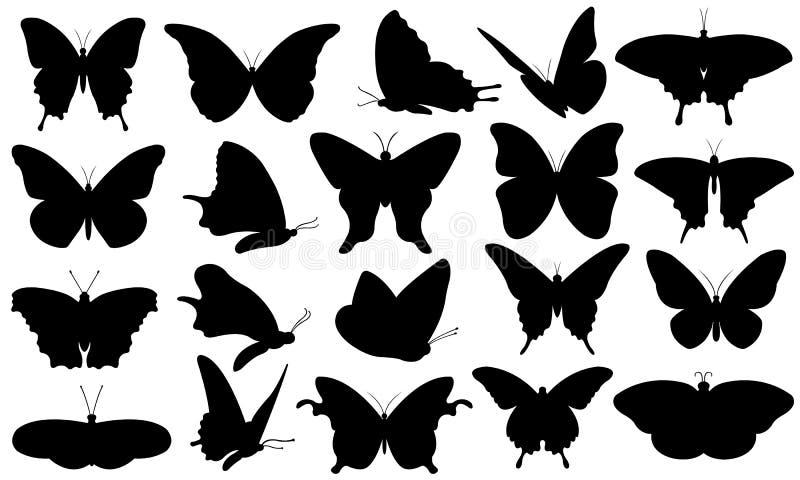 Illustration d'ensemble de papillons illustration de vecteur