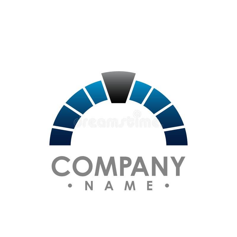 Illustration d'entreprise G de vecteur de symbole d'abrégé sur logo d'en demi-cercle illustration de vecteur