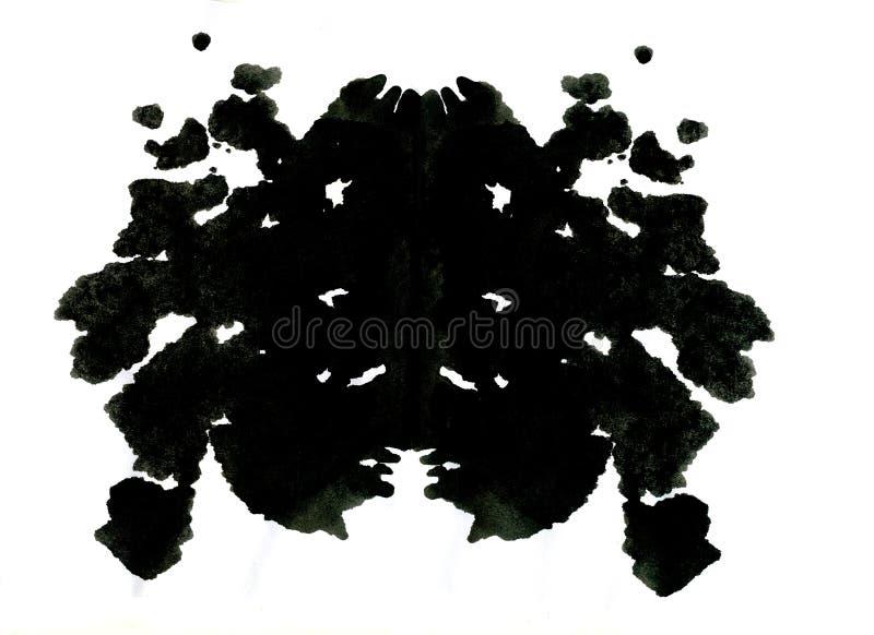Illustration d'essai de tache d'encre de Rorschach illustration de vecteur