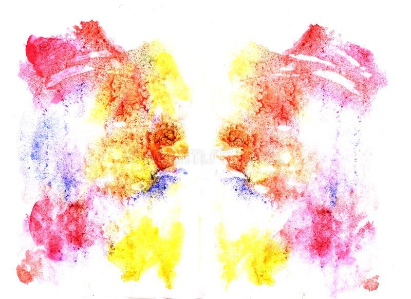 Illustration d'essai de tache d'encre de Rorschach illustration libre de droits