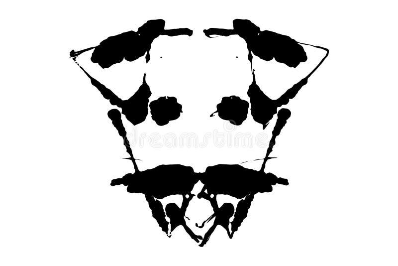 Illustration d'essai de tache d'encre de Rorschach, taches abstraites symétriques d'encre illustration de vecteur