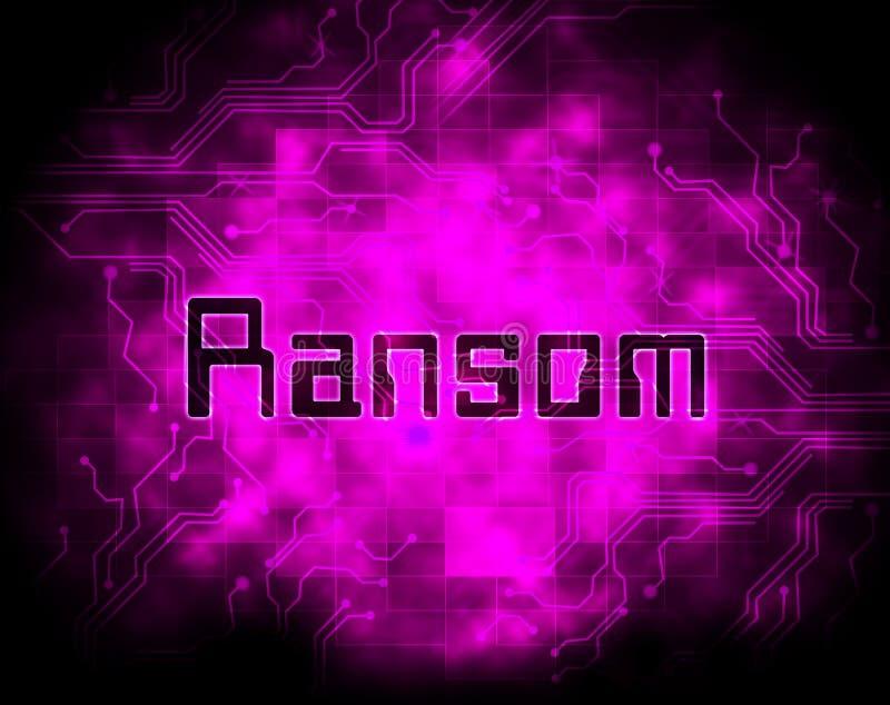 Illustration d'extorsion de données d'intru de rançon 2d illustration stock