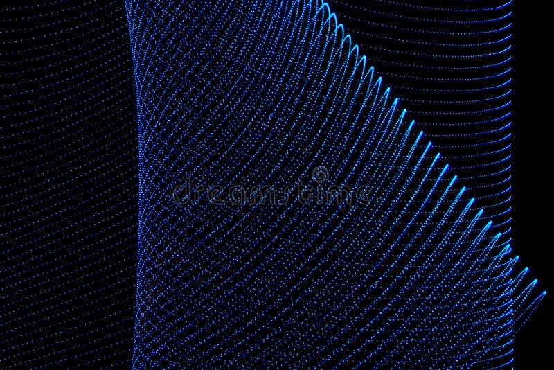 illustration 3d F?rgrika abstrakta ljus p? svart bakgrund Ljust m?lningfotografi arkivfoto