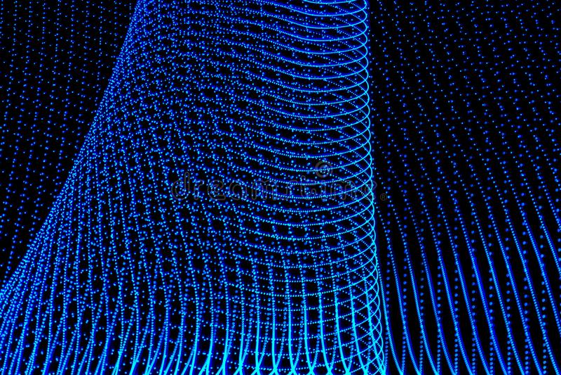 illustration 3d F?rgrika abstrakta ljus p? svart bakgrund Ljust m?lningfotografi royaltyfri illustrationer