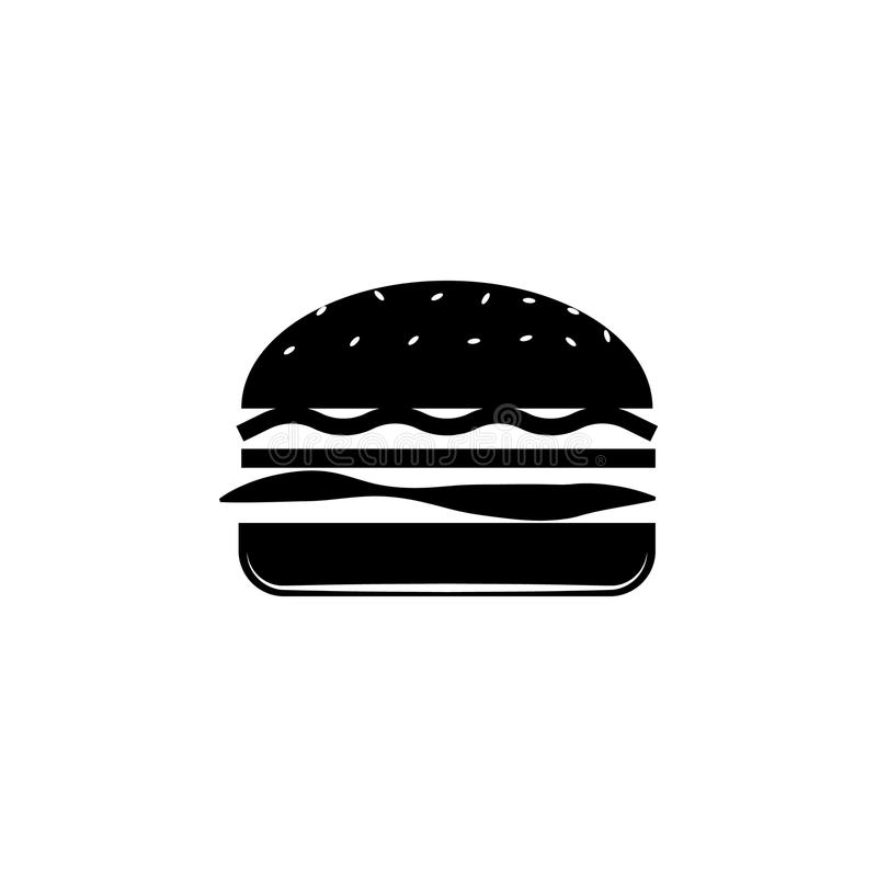 Illustration d'hamburger Élément d'icône de produit carné pour les apps mobiles de concept et de Web L'icône d'isolement d'hambur illustration de vecteur