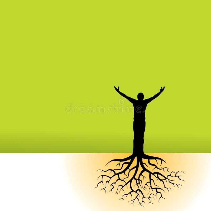 Illustration d'homme et de nature illustration libre de droits