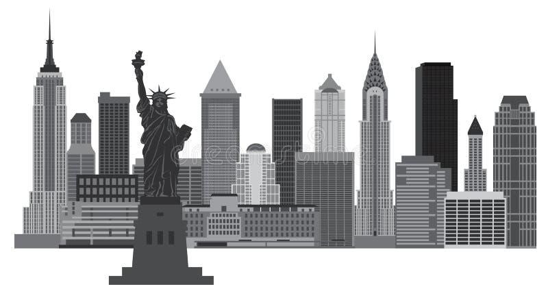 Illustration d'horizon de New York City illustration stock