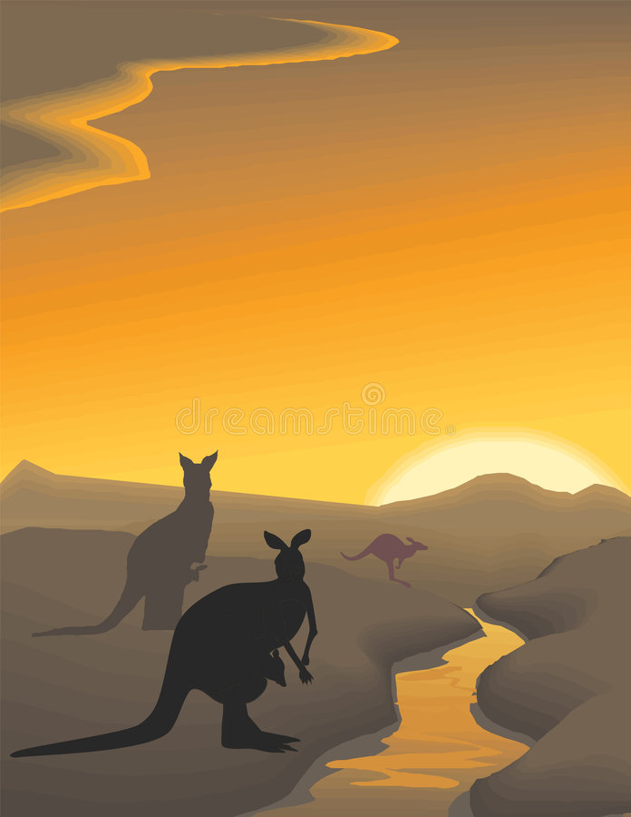 Illustration d'horizontal de soirée de vecteur illustration libre de droits
