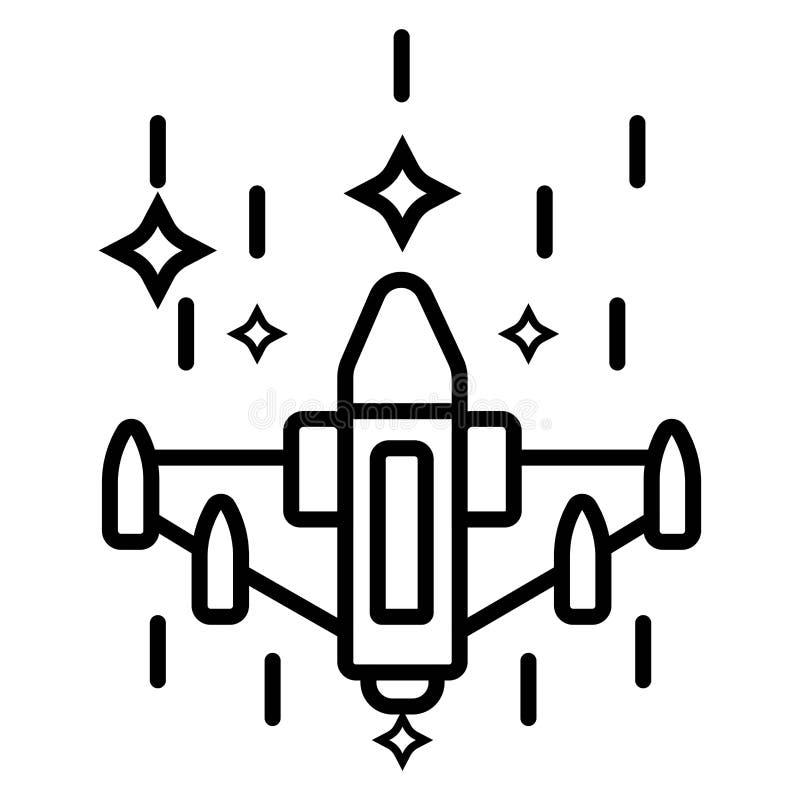 Illustration d'icône de chasseur à réaction illustration stock
