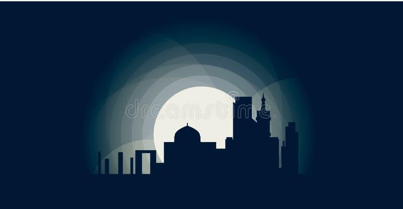 Illustration d'icône de logo de forme d'horizon de ville de l'Israël illustration libre de droits
