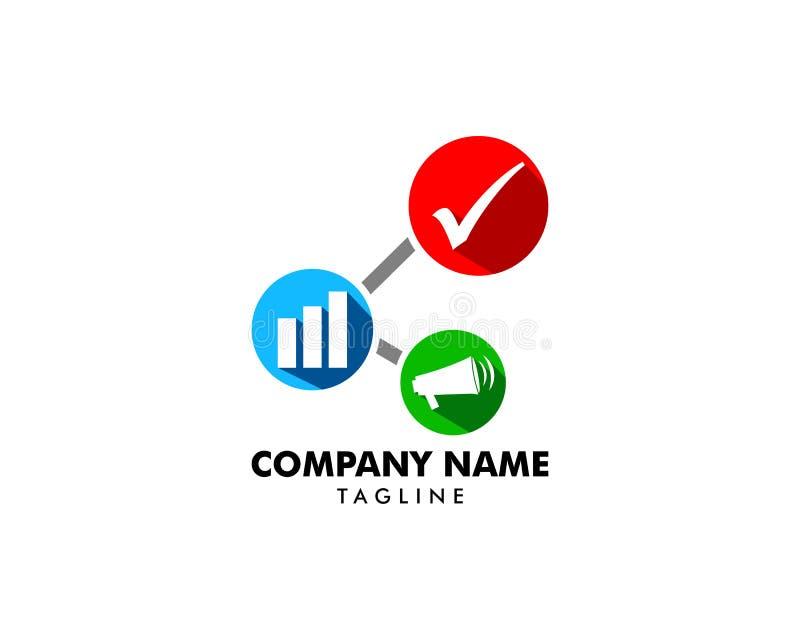 Illustration d'icône de logo de vecteur de vente d'affaires illustration stock