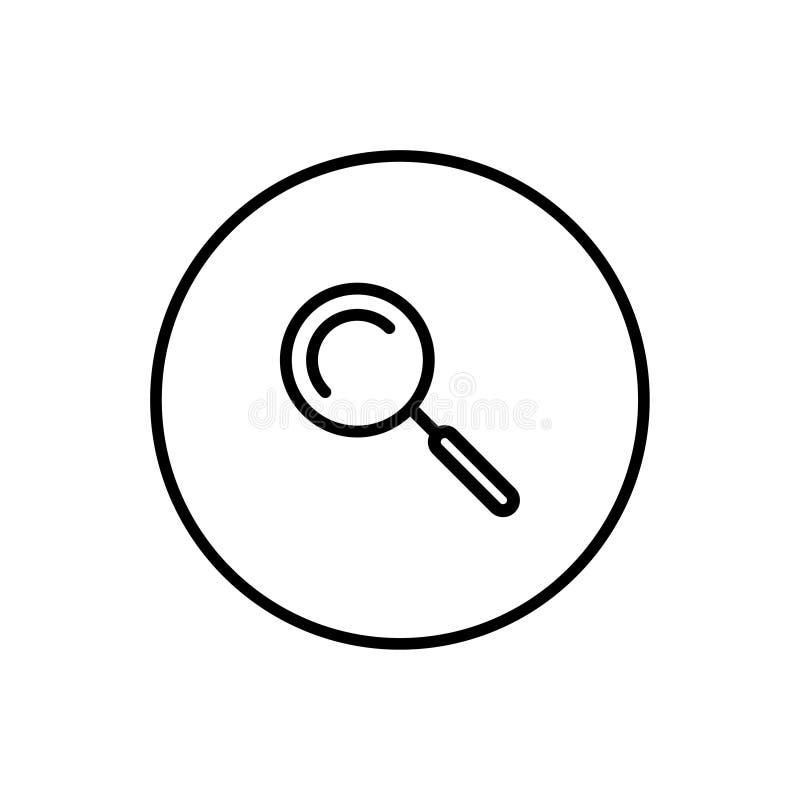Illustration d'icône de recherche illustration libre de droits