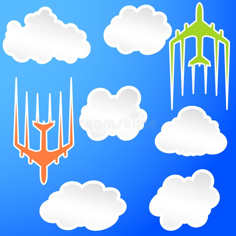 Illustration d'icône de transport de jet d'avion de ligne d'avion de vol illustration stock