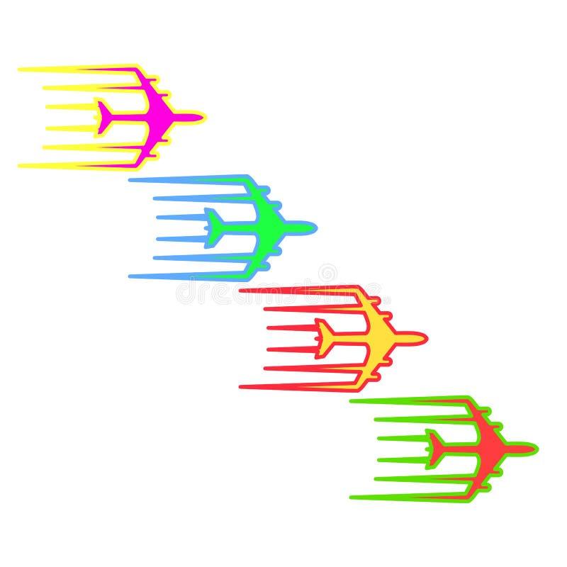 Illustration d'icône de transport de jet d'avion de ligne d'avion de vol illustration libre de droits