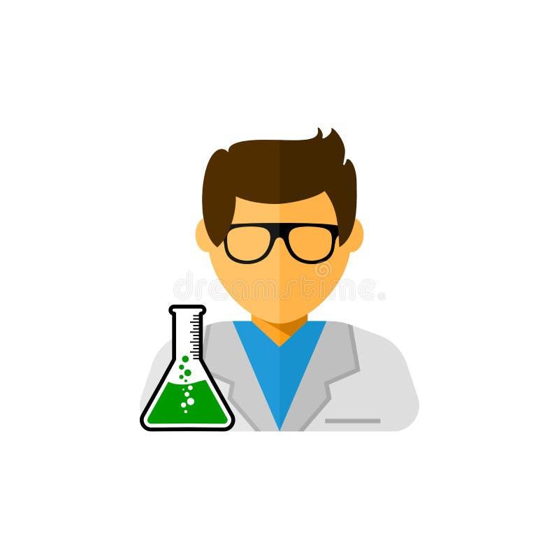 Illustration d'icône de vecteur d'assistant de laboratoire illustration stock
