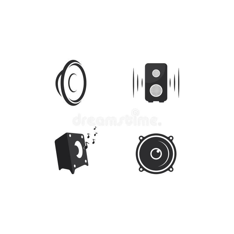 illustration d'icône de vecteur de calibre de logo de haut-parleur illustration de vecteur