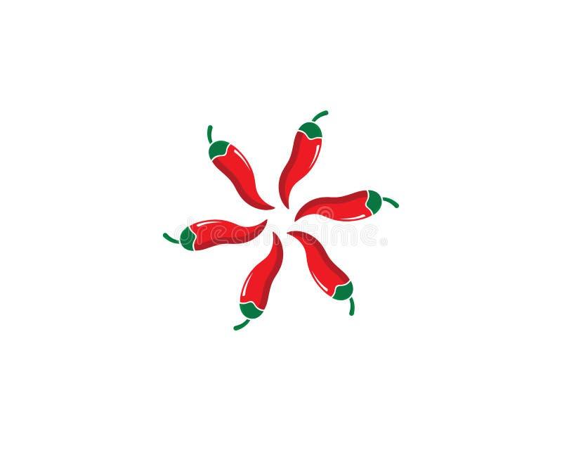 illustration d'icône de vecteur de calibre de logo de piment illustration de vecteur