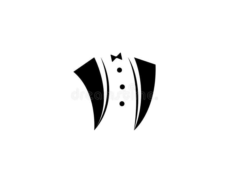 Illustration d'icône de vecteur de calibre de logo de smoking illustration libre de droits