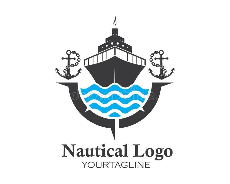 illustration d'icône de vecteur de Logo Template de bateau de croisière illustration stock