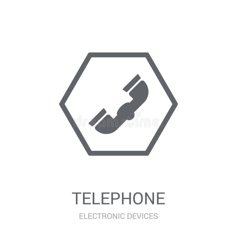 Illustration d'icône de vieux téléphone  illustration libre de droits
