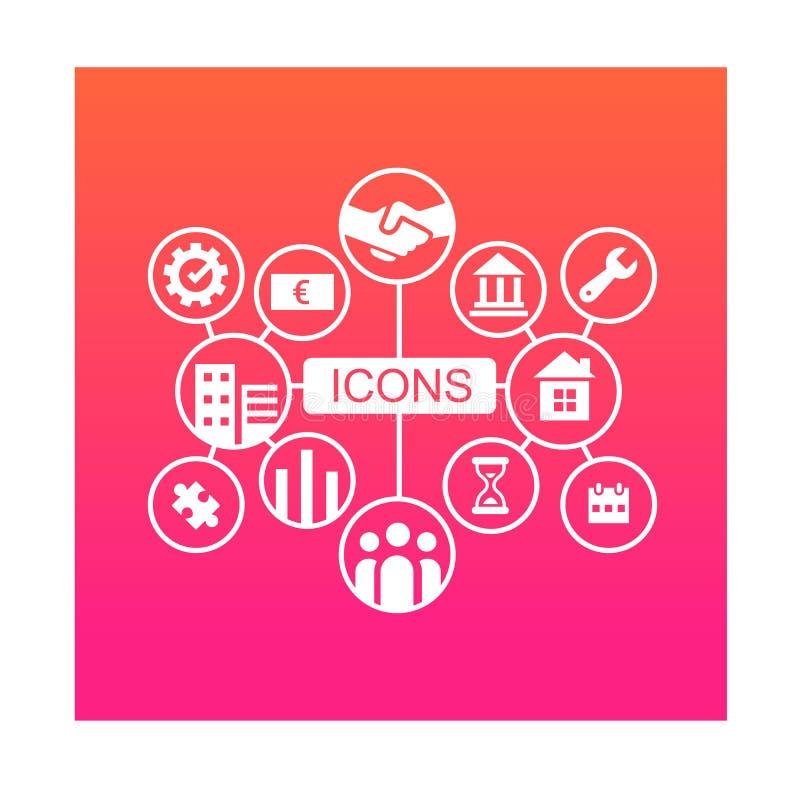 Illustration d'icônes d'affaires pour toute entreprise illustration libre de droits