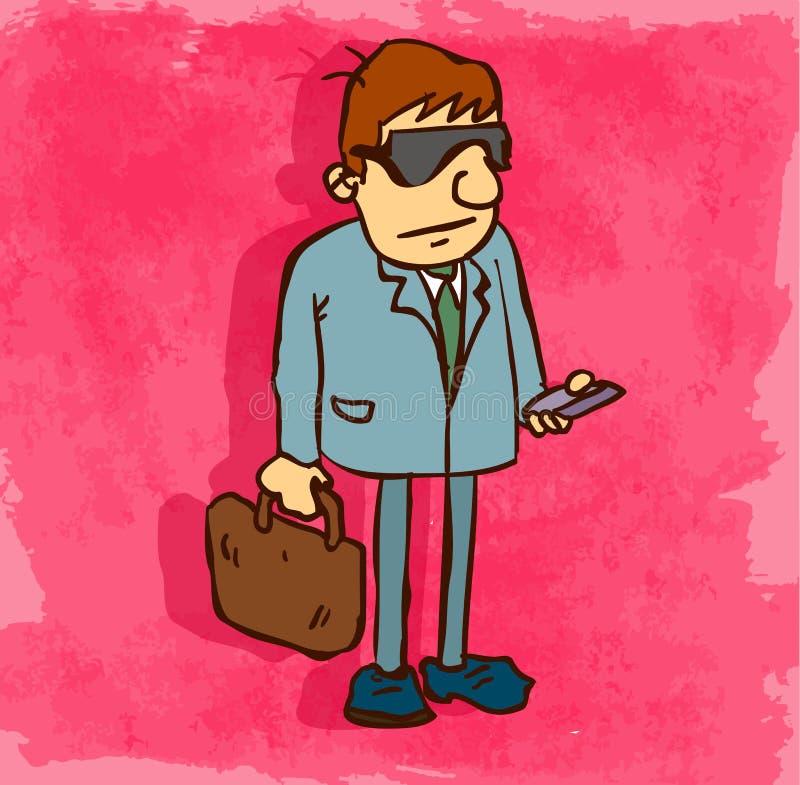 Illustration d'icône d'avocat de bande dessinée, icône de vecteur illustration de vecteur
