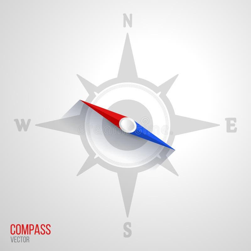 Illustration d'icône de boussole illustration libre de droits