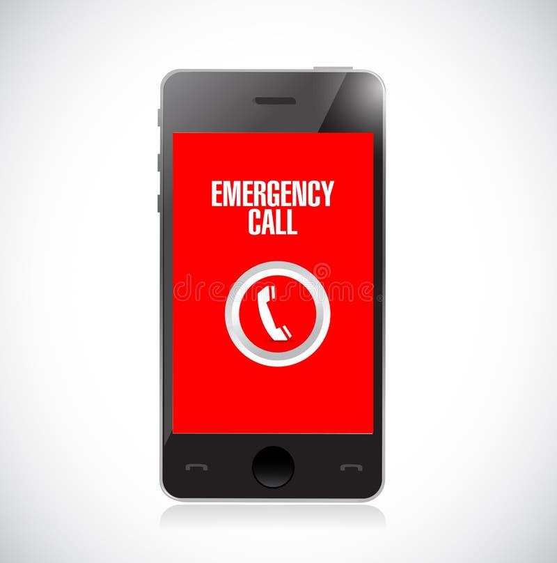 illustration d'icône de téléphone d'appel d'urgence illustration stock