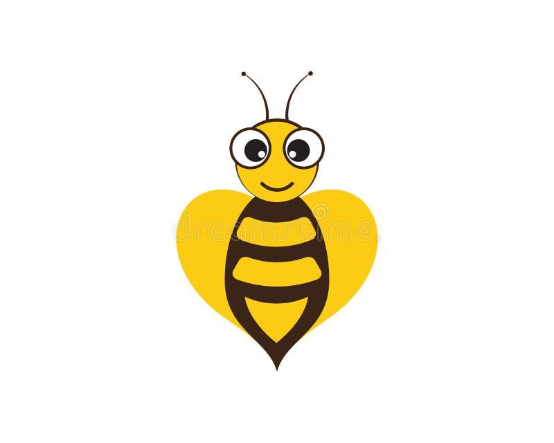 Illustration d'ic?ne de vecteur de Logo Template d'abeille illustration stock